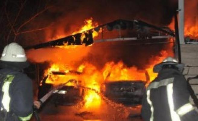 Konya'da Akıl Almaz Yangın