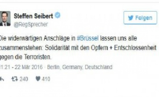 Merkel'den Brüksel Saldırılarına Kınama