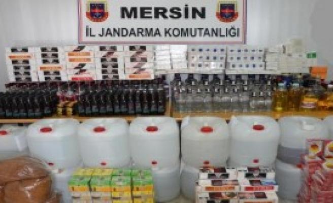 Mersin'de Kaçak İçki Operasyonu: 14 Gözaltı