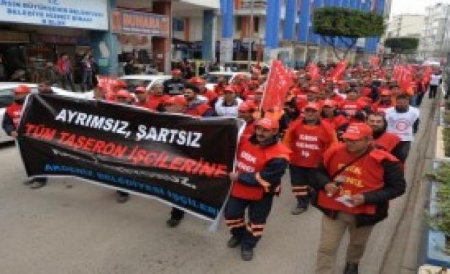 Mersin'de Taşeron İşçi Eylemi