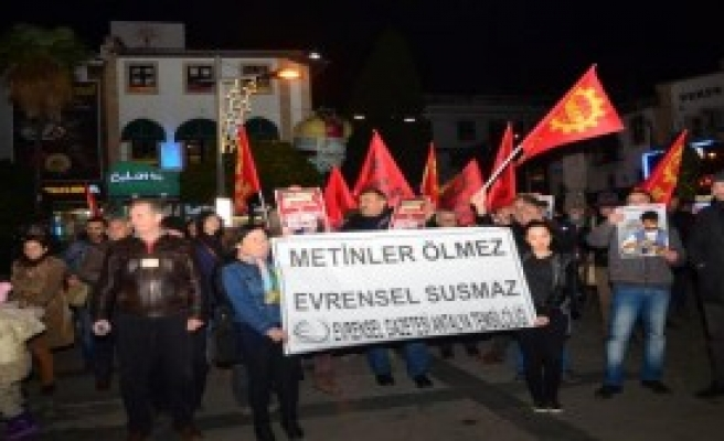 Metin Göktepe Antalya'da Anıldı
