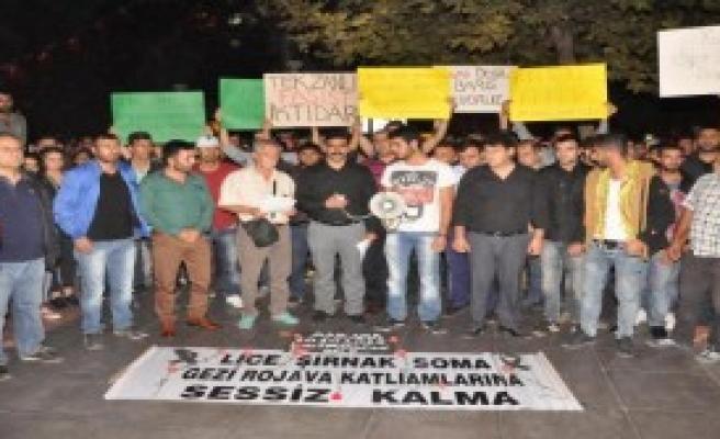 Nazilli'de Saldırı İçin Protesto Yapıldı