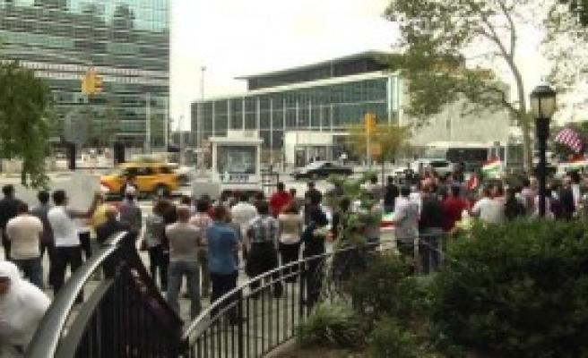 New York'ta IŞİD Protestosu