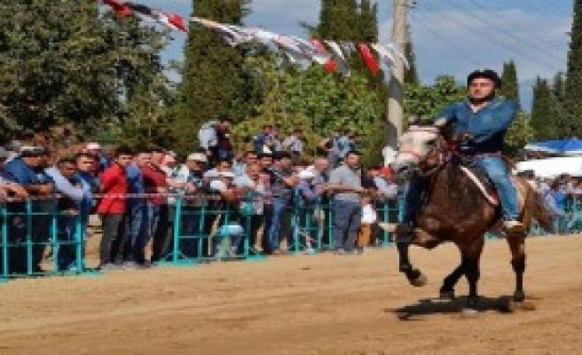 Ödemiş'te Rahvan At Yarışı Heyecanı