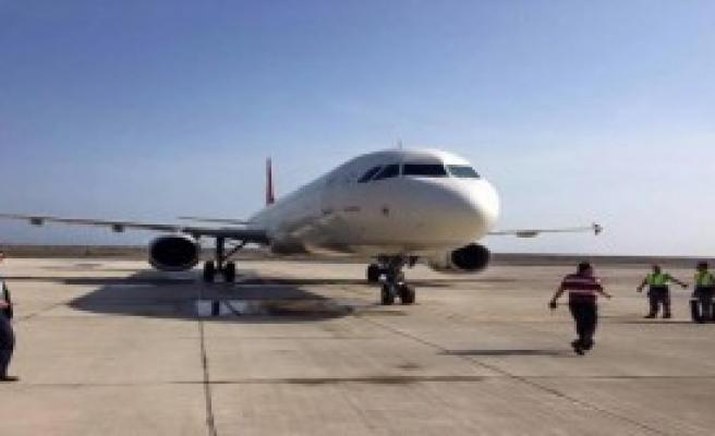 Ordu- Giresun Havalimanı'na İlk Uçak İndi