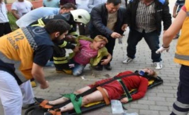 Pencereden Düşen Genç Kadın Yaralandı