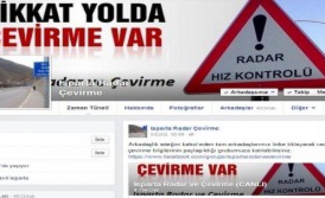 Radardan Kaçmak İçin Facebook'ta Grup Kurdular