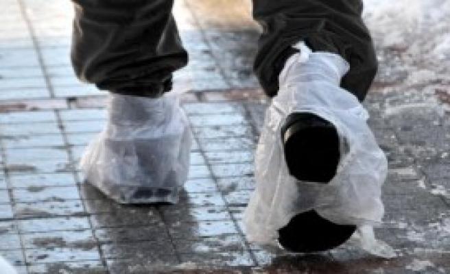 Rize'de Kar Kalınlığı 1 Metreye Ulaştı