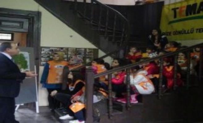Rize'de TEMA'dan 5 Bin Çocuğa Doğa Eğitimi