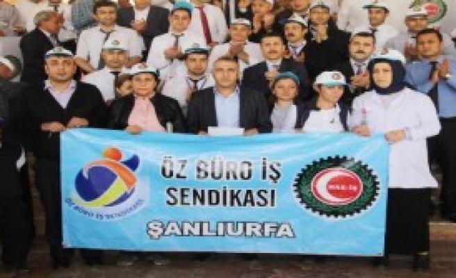 Şanlıurfa'da Sağlıkçılardan Şiddet Protestosu
