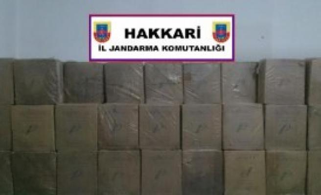 38 Bin Paket Kaçak Sigara Ele Geçirildi