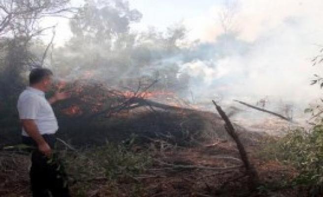 Seydikemer'de Orman Yangını Sürüyor