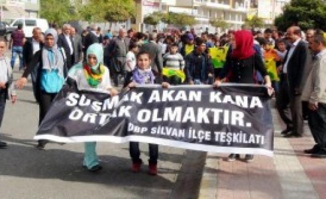 Silvan'da Çözüm Süreci Yürüyüşü