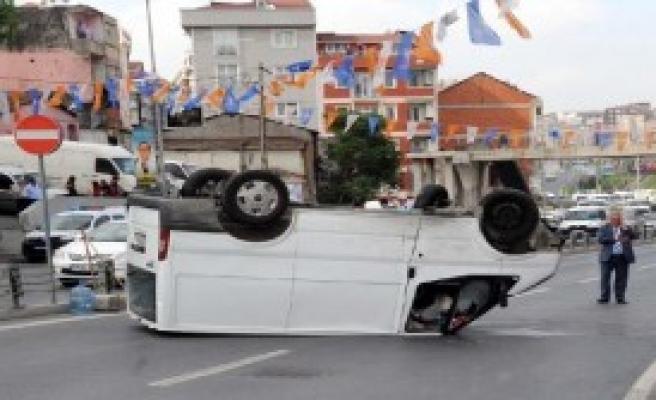 Şişli'de Ehliyetsiz Sürücü Kazası