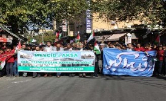Siverek'te İsrail Protestosu