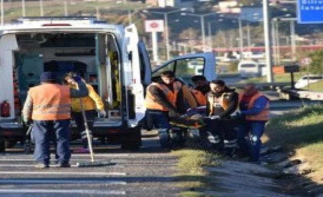 Otomobilin Sürücüsü Yaralandı