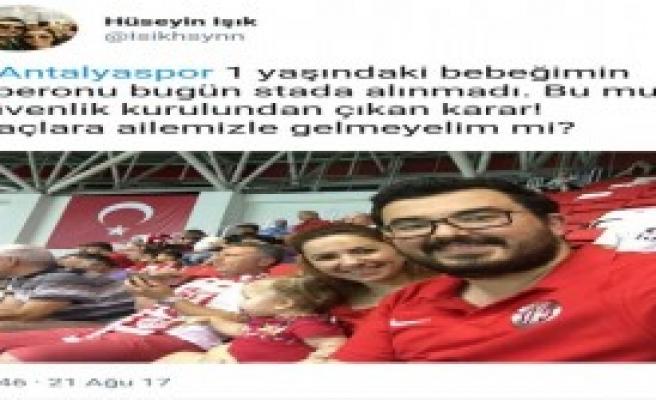 Taraftarın 'Stada Biberon Alınmadı' Tepkisi