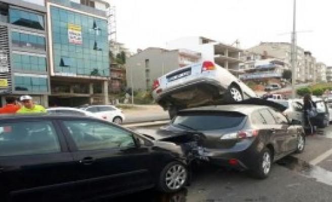 Tekirdağ'da Zincirleme Kaza: 7 Yaralı