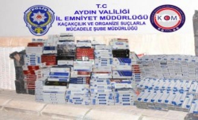 11 Bin 480 Paket Kaçak Sigara Ele Geçirildi