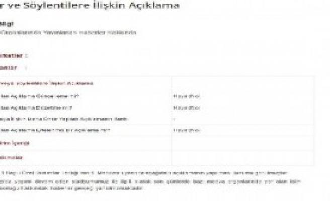 Trabzonspor'dan Kap'a Akyazı Açıklaması