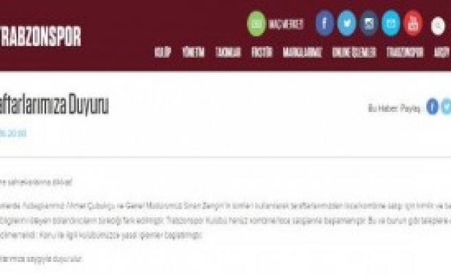 Trabzonspor'dan Kombine Uyarısı