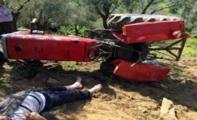 Traktör Devrildi: 1 Yaralı