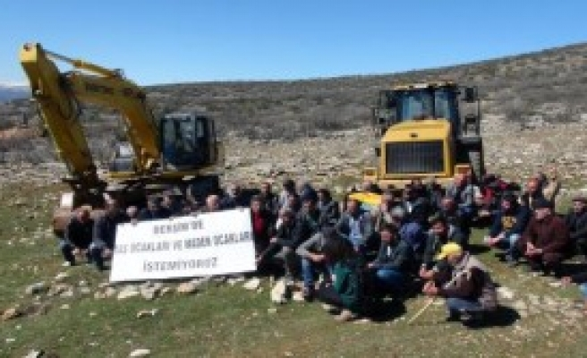 Tunceli'de Taş Ocağına Köylülerden Tepki