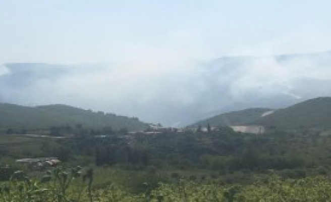 Türkmendağı'ndaki Yangın Türkiye Sınırına İlerliyor