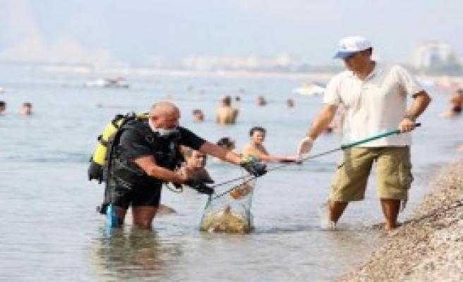 Turmepa Gönüllüleri Sahili Temizledi