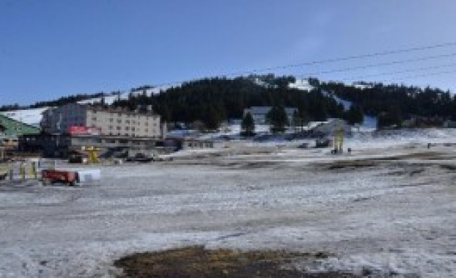 Uludağ'da 5 Santim Kar Kaldı