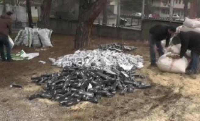 Uşak'ta 34 Bin 380 Paket Kaçak Sigara Ele Geçirildi