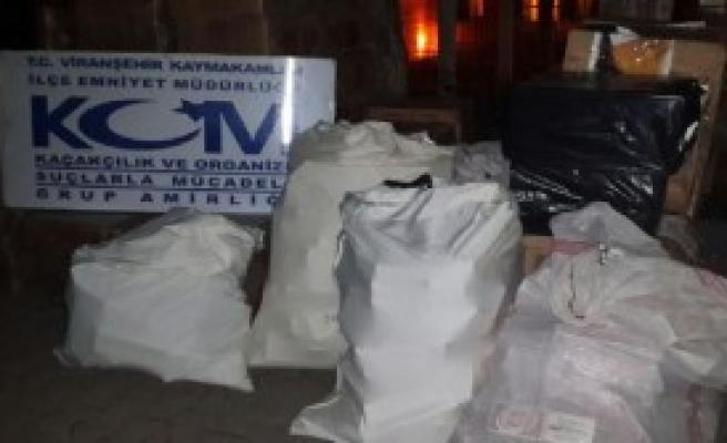 Viranşehir'de Kaçak Sigaraya 5 Gözaltı