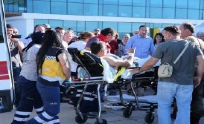 Yaralı Polis Ambulans Uçakla Ankara'ya Götürüldü