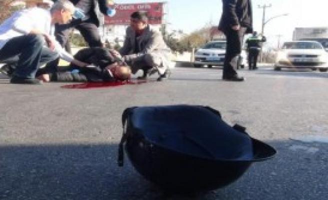 Yaya Şeridinden Motosikletiyle Geçmek İsterken Otomobil Çarpması Sonucu Öldü