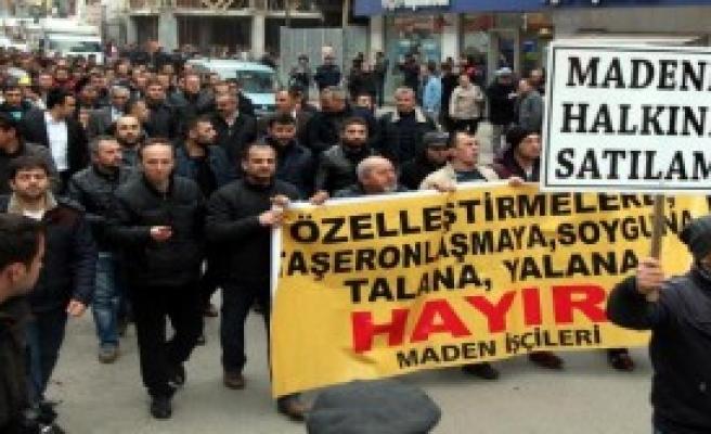 Zonguldak'ta Maden İşçileri Yürüdü