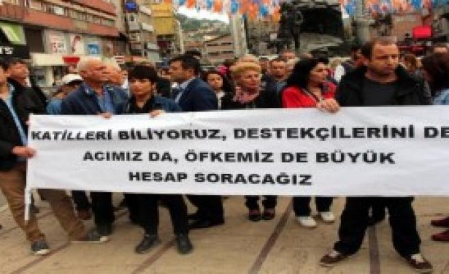 Zonguldak'ta Terör Protestosu