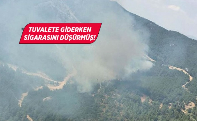 İzmir'de ormanı yangını işte böyle çıkmış!