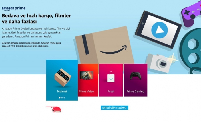 Amazon Prime Türkiye'de