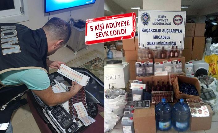 İzmir'de sahte içkiye geçit yok
