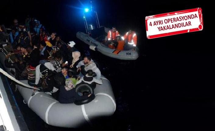 Umuda yolculuk yarım kaldı! 173 mülteci yakalandı