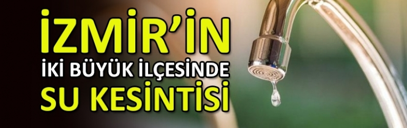 İzmir'desu kesintisi