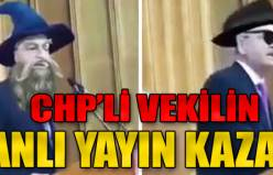 CHP'li vekilin canlı yayın kazası