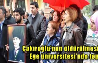 Ege Üniversitesi'nde Çakıroğlu Tepkisi