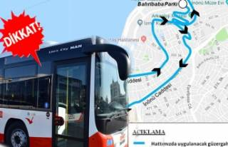 O bölgenin otobüs güzergahında değişiklik