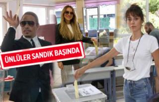 24 Haziran seçimlerinde, oy kullanan ünlüler