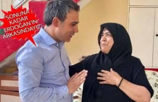 AK Parti adayından 15 Temmuz şehidinin ailesine...