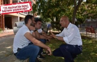 CHP'nin vekil adayları, seçim çalışmalarında...