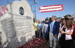 Karşıyaka Ali Rıza Efendi'yi unutmadı