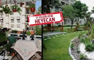Karşıyaka'nın en güzel balkonu ve bahçesi...
