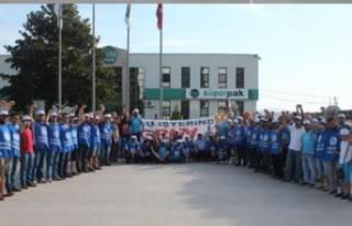 Süperpak işçileri 9 gündür grevde